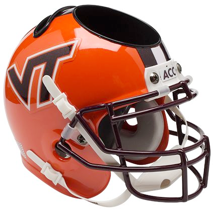 Virginia Tech Hokies Mini Helmet Desk Caddy - Orange with Stripe