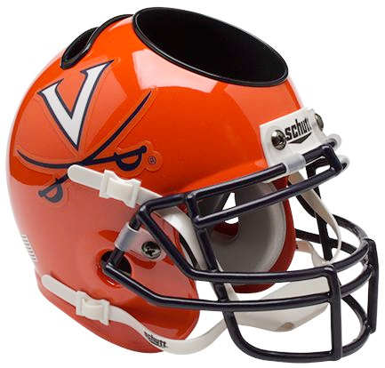 Virginia Cavaliers Mini Helmet Desk Caddy - Orange
