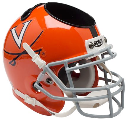 Virginia Cavaliers Mini Helmet Desk Caddy - Orange w/Stripe