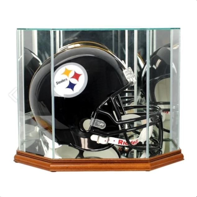Octagon Full Size Helmet Display Case with Mirrors