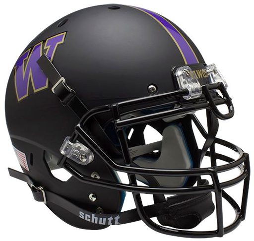 Washington Huskies Authentic Schutt XP Full Size Helmet - Matte Black