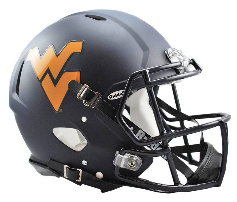 West Virginia Authentic Full Size Speed Helmet - Matte Navy