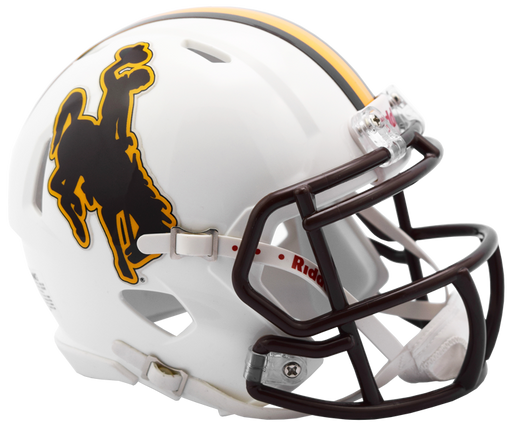 Wyoming Cowboys Riddell Mini Speed Helmet - 2016