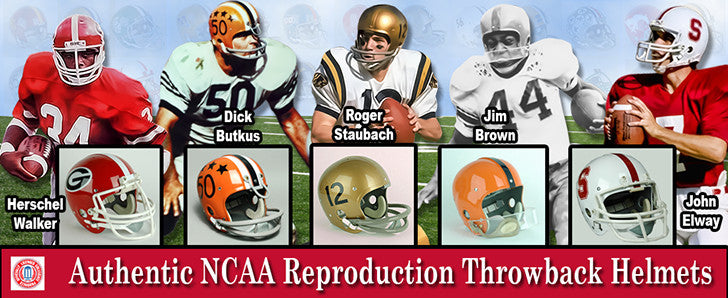 NCAA Throwback Helmets