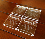 CLEAR ACRYLIC COASTERS