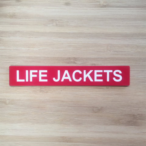 Lifejacket Sign .