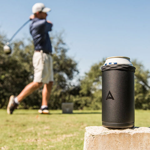 Arctican Coozie Cooler on a golf course