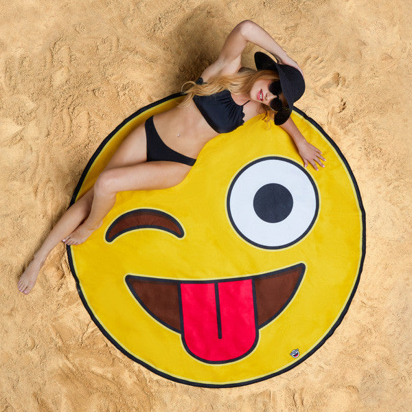 Buy Gigantic Emoji Beach Blanket and other gifts online - The Fowndry