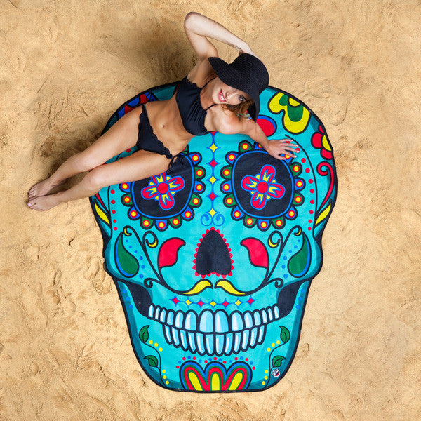 Buy Giant Sugar Skull Beach Blanket and other gifts online - The Fowndry