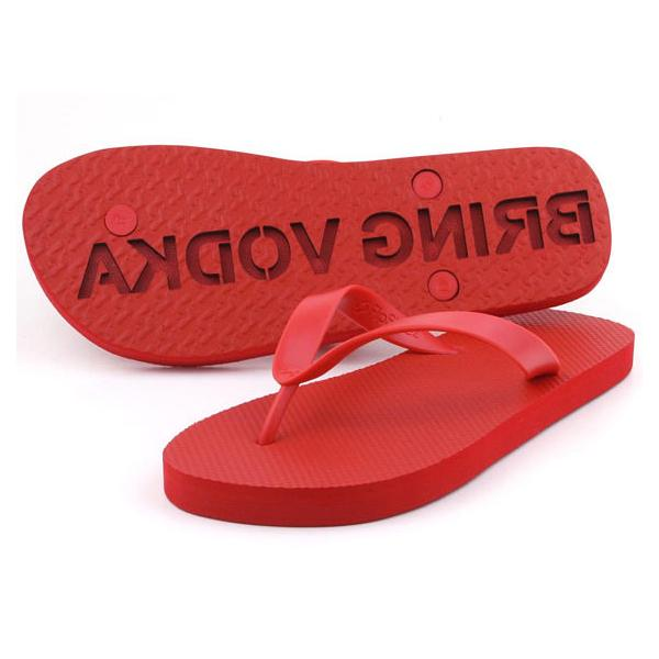 Buy 'Follow Me Bring Vodka' Flip Flops and other gifts online - The Fowndry