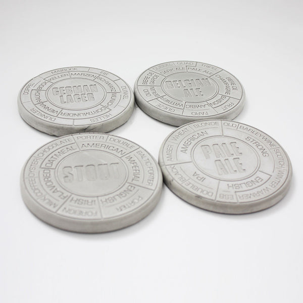 Buy Concrete Beer Coasters and other gifts online - The Fowndry