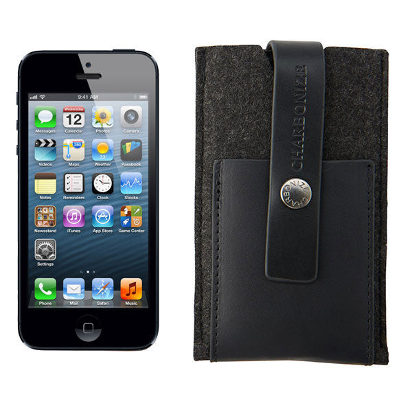 Charbonize Felt iPhone Wallet
