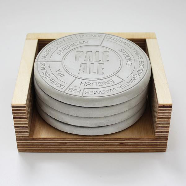 Concrete Beer Coasters - Buy at The Fowndry