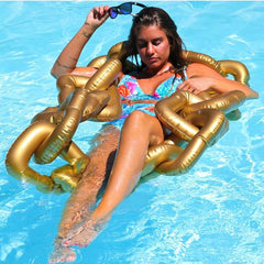 Gold Chain Pool Float