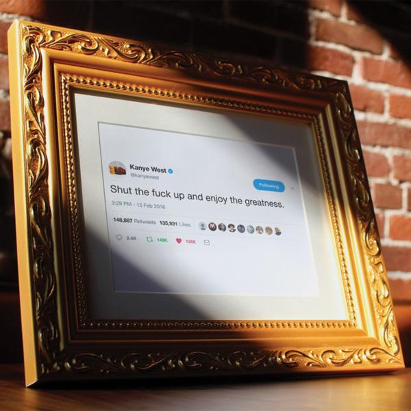 Buy Framed Tweets and other gifts online - The Fowndry