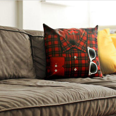 Hipster Pillow - Plaid