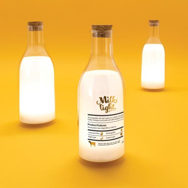 Buy Milk Bottle Light and other gifts online - The Fowndry