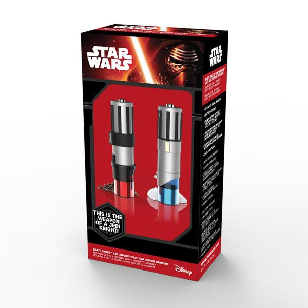 Buy Star Wars™ Lightsaber Salt and Pepper Mills and other gifts online - The Fowndry