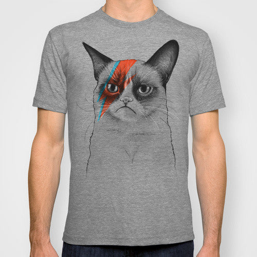 Buy Grumpy Cat as Bowie - Men's T-Shirt and other gifts online - The Fowndry