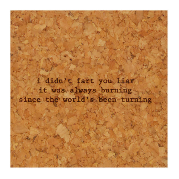 Buy Mistaken Lyrics Coasters and other gifts online - The Fowndry