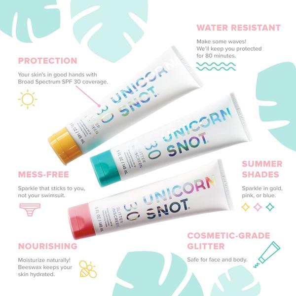 Buy Unicorn Snot Glitter Sunscreen and other gifts online - The Fowndry