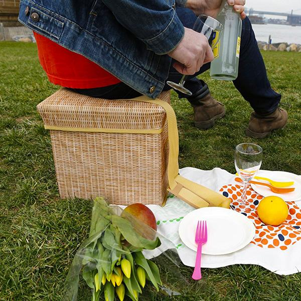 Buy Wicker Picnic Cooler Seat and other gifts online - The Fowndry