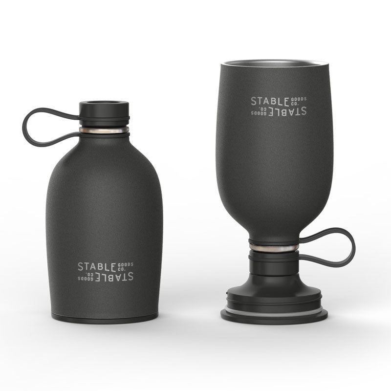 The Pint Canteen Carbon - 16oz Stainless steel water bottle for camping - Only £24.99 at www.thefowndry.com