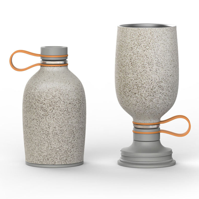 The Pint Canteen Granite - 16oz Stainless steel water bottle for camping - Only £24.99 at www.thefowndry.com