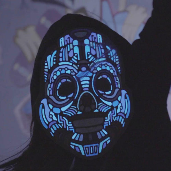 Buy Outline Sound-Reactive Flashing LED Mask and other gifts online - The Fowndry