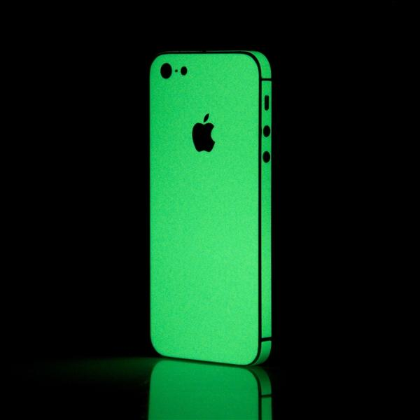Green iGlow iPhone 5 skin main image