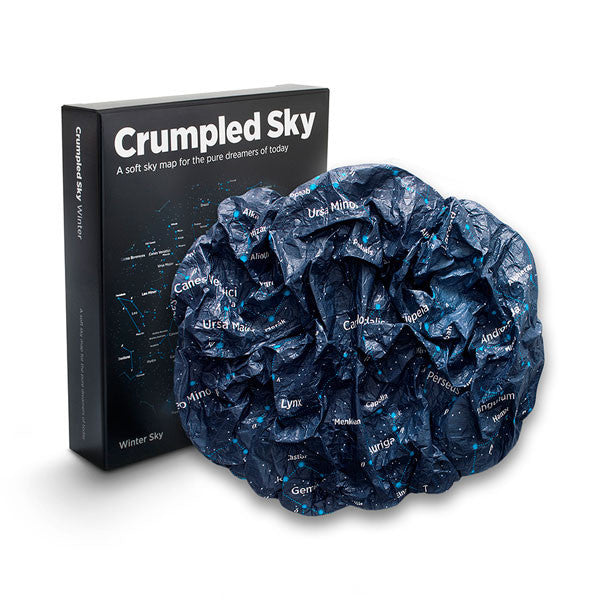 Crumpled Sky Map and packaging