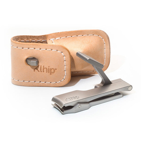 Klhip Nail Clipper with Leather Pouch - Only £54.99 | Buy at The Fowndry