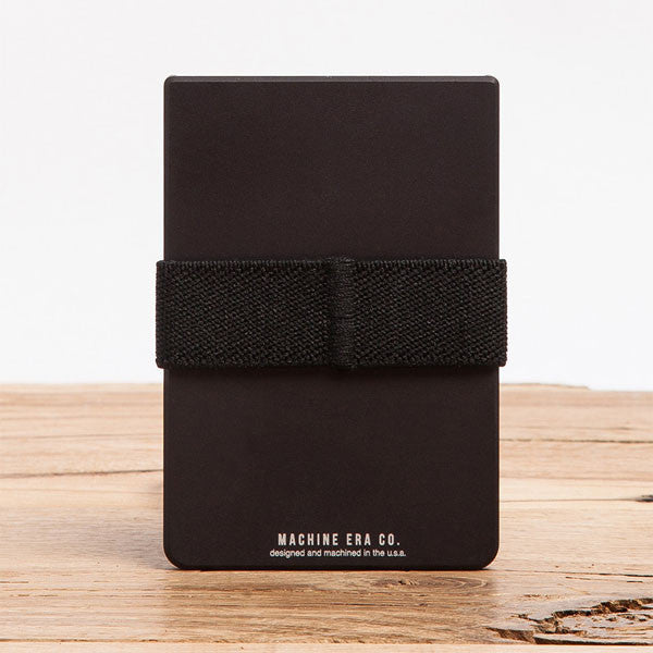 Machine Era Wallet - flat black version front