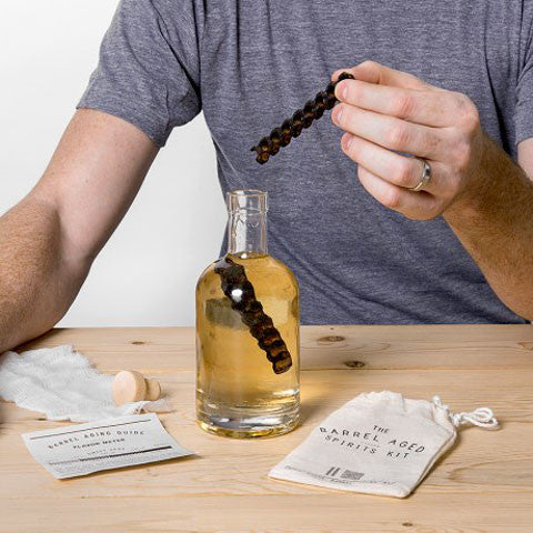 The Barrel Aged Spirits Kit - 'how to' lifestyle demo image