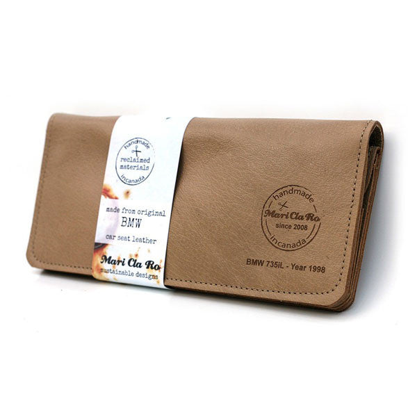 Luxury Car Leather Wallet tan BMW portfolio version - Only £69.99 | Buy at The Fowndry