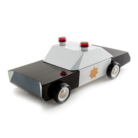 CandyLab Toys Mo-To Police Cruiser 3/4 front