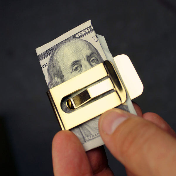 'It's Only Money' 18k Gold Plated Money Clip - Buy at The Fowndry