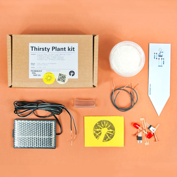 DIY Thirsty Plant Kit components