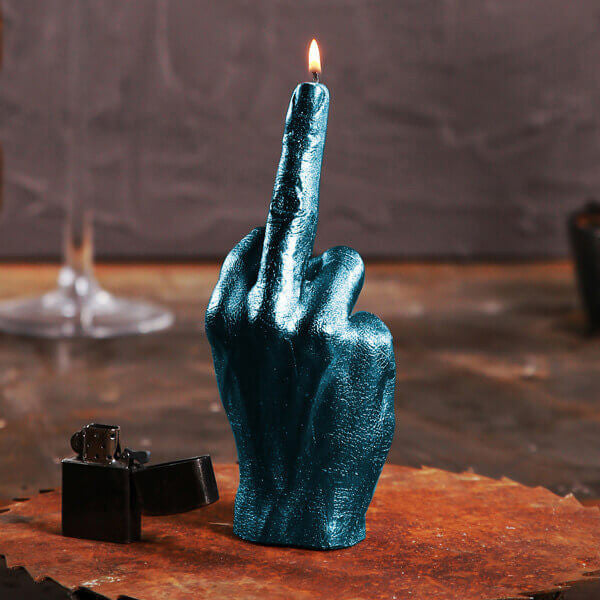 Buy Middle Finger Candle and other gifts online - The Fowndry