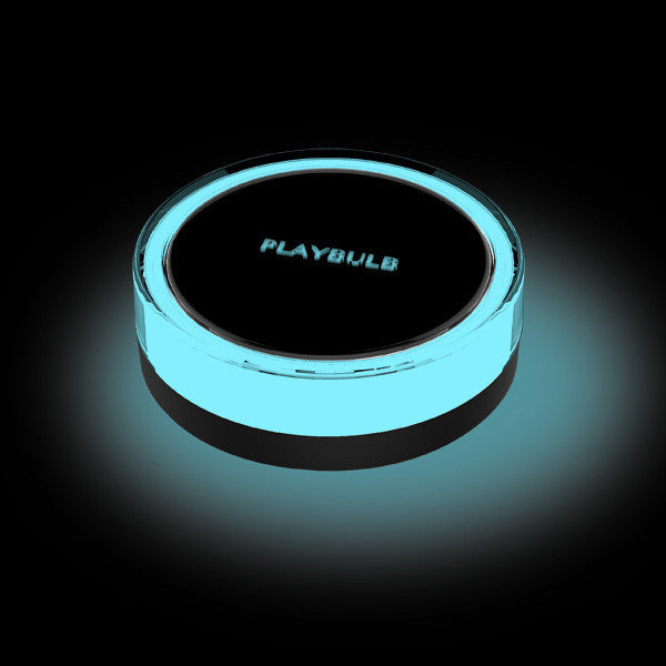 MiPow Playbulb Garden Light - single unit, glowing on black background