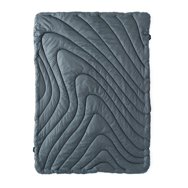 Charcoal Rumpl Blanket - Throw version, white cutout image