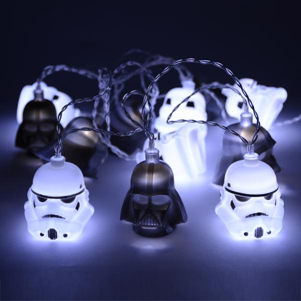 Darth Vader and Stormtrooper Helmet 3D String Lights - Buy at The Fowndry