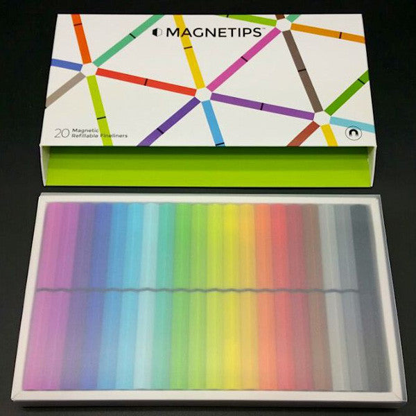 Coloured Magnetips - the refillable Fineliners - shown in their packaging