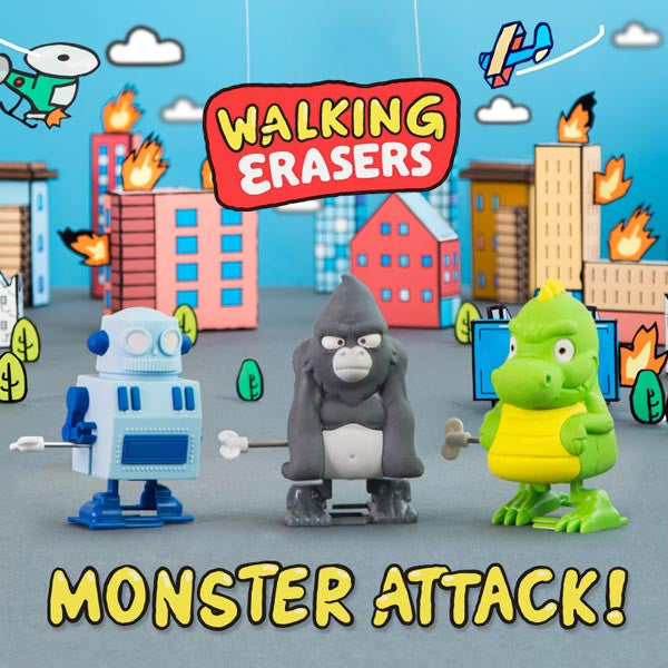 Buy Monster Attack! Walking Erasers and other gifts online - The Fowndry