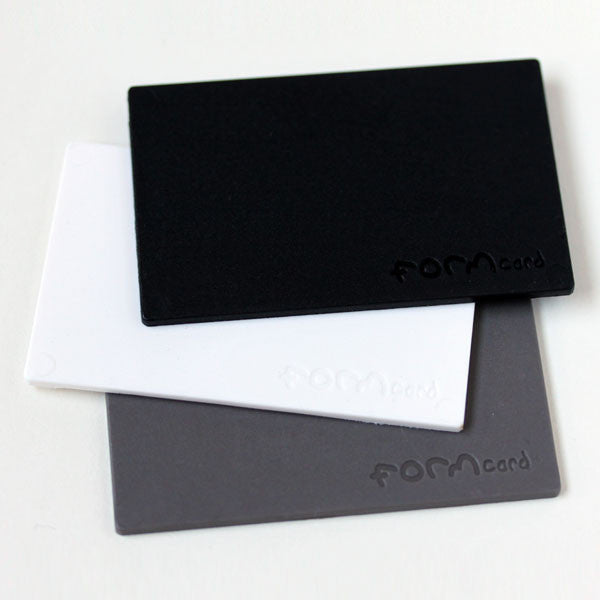 FORMCard mouldable plastic cards - black, white and grey pack