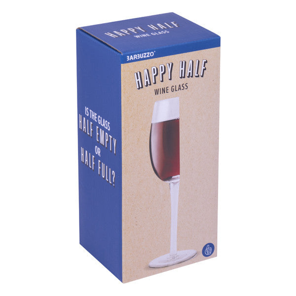 Buy Happy Half Wine Glass and other gifts online - The Fowndry