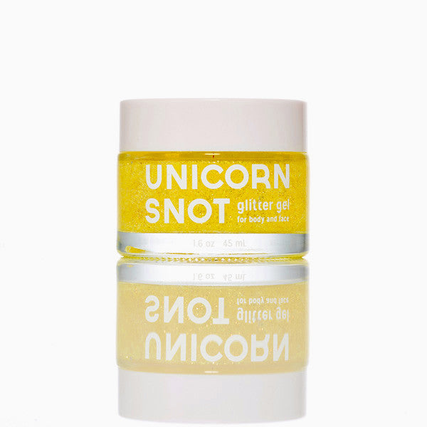 Unicorn Snot Glitter Gel - single pot, yellow version