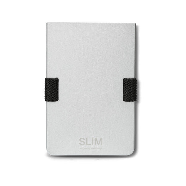 Aluminium SLIM Wallet on a white background