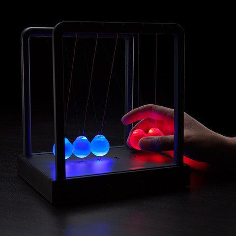 Buy Kinetic Light Newton's Cradle and other gifts online - The Fowndry