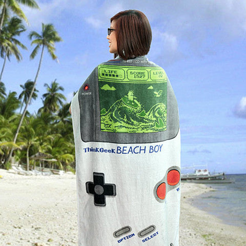 Beach Boy Towel wrapped around a girl